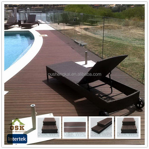 146mm*24mm deck wpc waterproof customized made in china fireproof decking