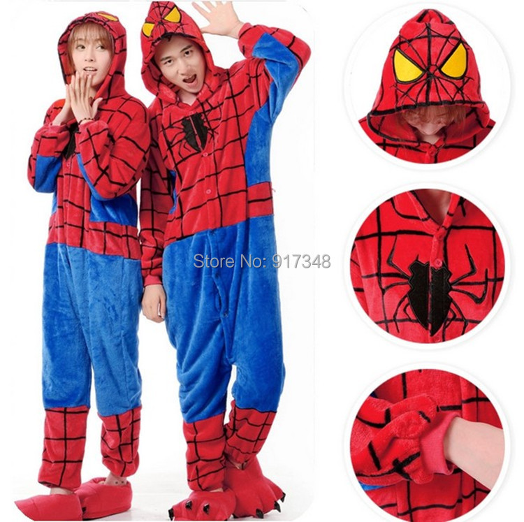 online kaufen gro handel superhero pyjamas erwachsene aus. Black Bedroom Furniture Sets. Home Design Ideas