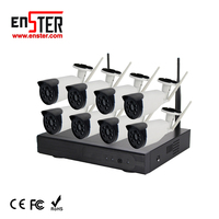 8ch HD Wifi IP Camera DVR Video Recorder Security NVR Kit CCTV Wireless Security Camera System