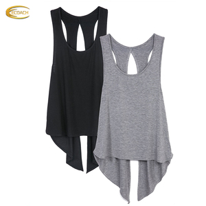 China Activewear supplier wholesale Fitness Sexy Yoga Tops Workout Clothes Racerback Tank Top for Sport Women