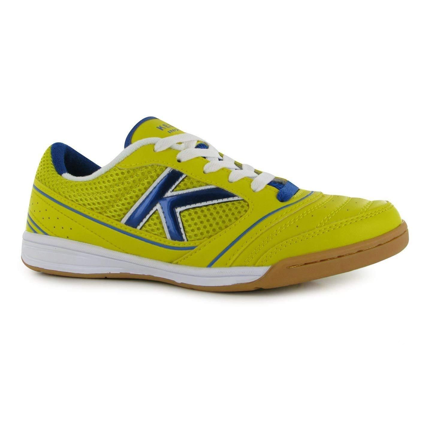 ed4e74033 Get Quotations · Kelme America Indoor Football Futsal Trainers Mens  Lemon/Royal Soccer Sneakers