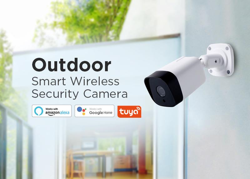 2019 Tuya outdoor IP66 waterproof wifi ip camera