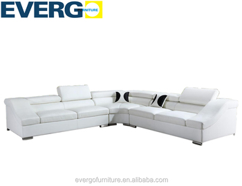 White Leather Corner Sofa Sectional