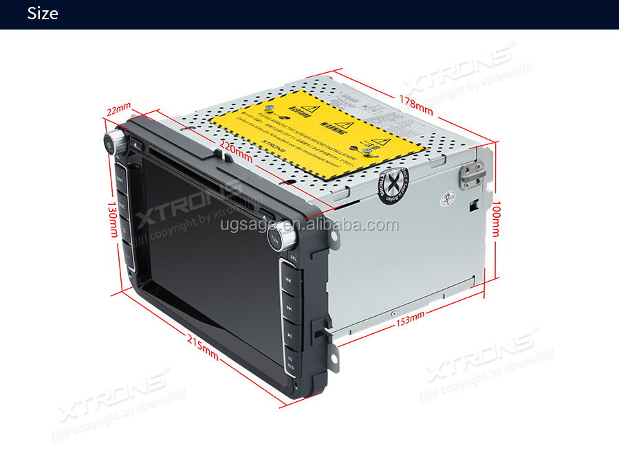 Xtrons 64gb Rom Hexa Core 9 0 Android 2 Din Gps For Vw