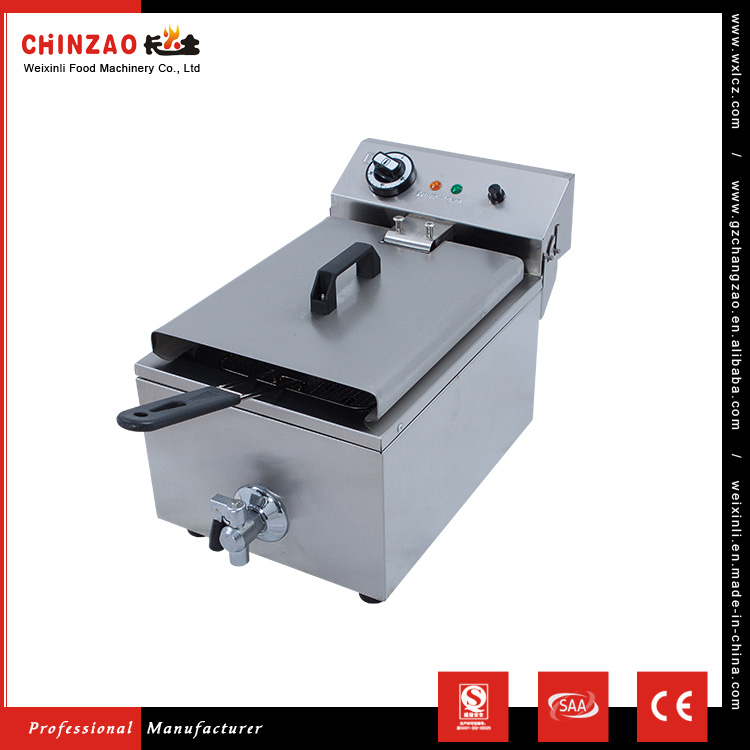 CHINZAO Alibaba China Supplier Provide Low Price Single Commercial Electric Potato Oilless Fryer With Faucet