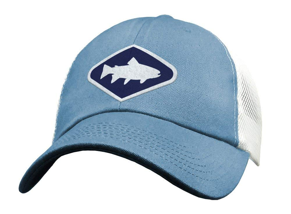 01271f64373 Get Quotations · Cute Fly Fishing Snapback Trucker Hats for Women - Mesh  Low Profile Distressed Blue