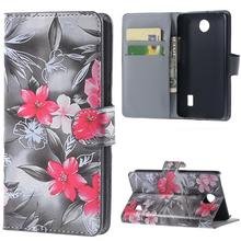 2015 Hot Qualiy Huawei Y635 Case Wallet Style PU Leather Case for Huawei Ascend Y635 with Stand Function and Card Holder 9 Color