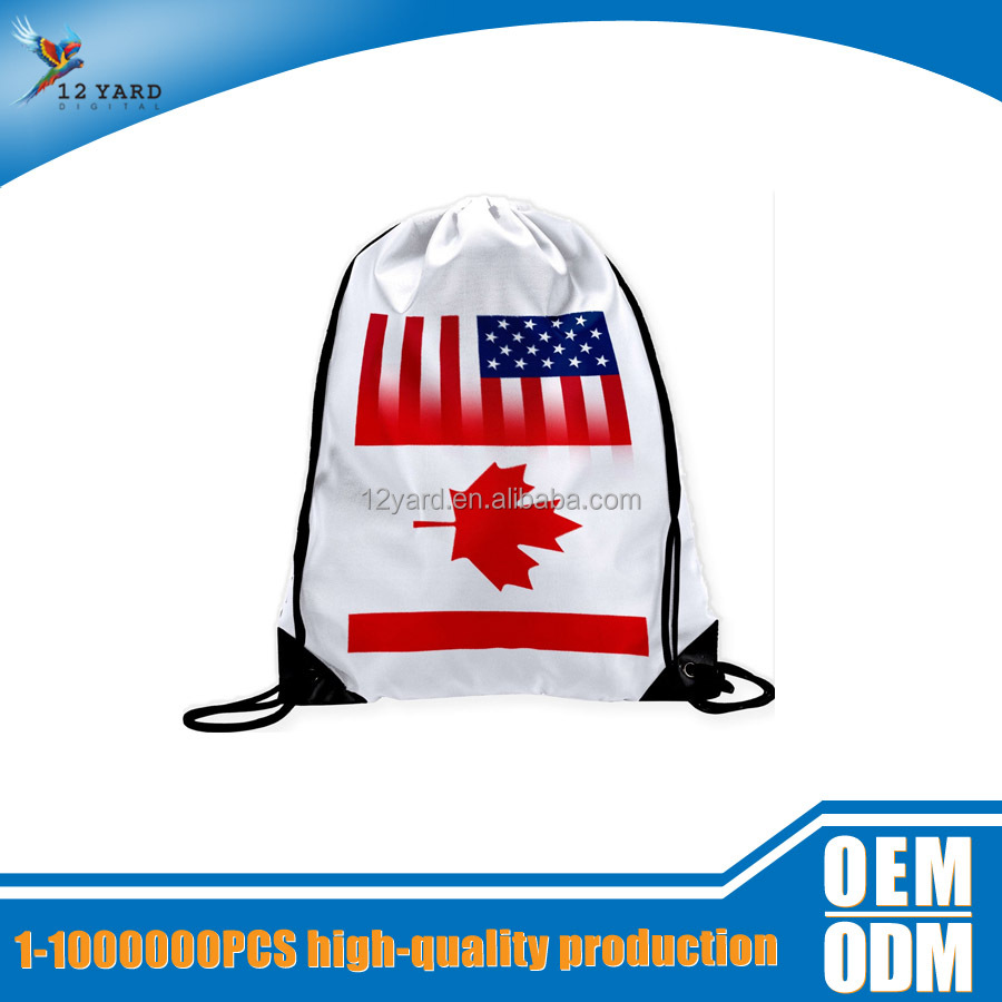 high quality printed Canada flag travel big backpack bag gym training sport backpack