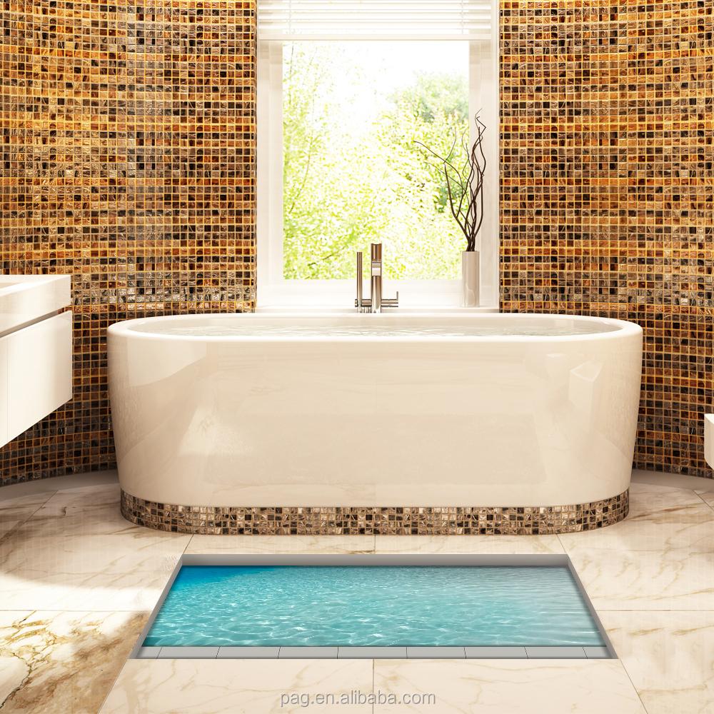 Usine gros 3D sol autocollants home Decor pour salle de bains ...
