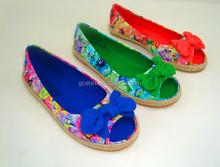 GCE265 impreso canvas alpargatas alpargata zapatos y suela de zapato alpargata de yute al por mayor