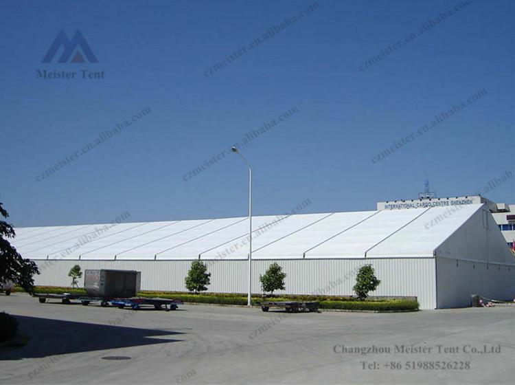 Grande heavy duty armazém barraca de armazenamento usado branco