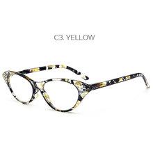 UVLAIK очки для чтения «кошачий глаз» Для женщин очки со стразами дальнозоркостью с диоптрий 1,0 1,5 2,0 2,5 3,0 3,5 4,0(Китай)