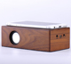 R916 hot sale 2 x 3W Powered full natural wooden bamboo induction speaker