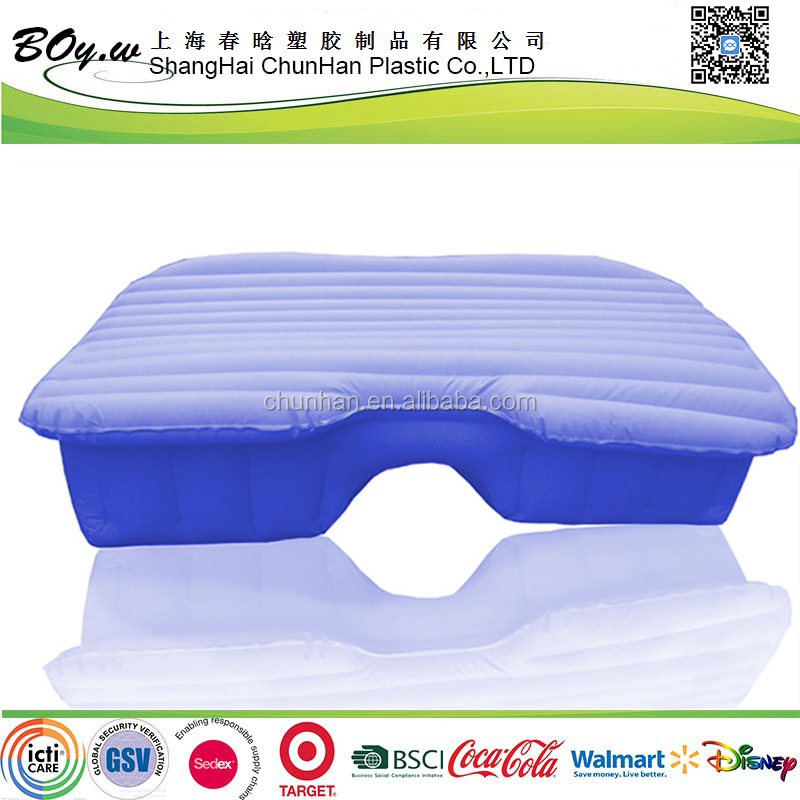 factory OEM back seat extended mattress flocking inflatable car air bed