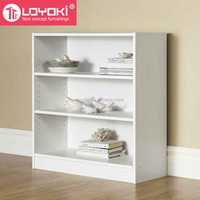 3-shelf Bookcase for living room home furniture display cabinet eco-friendly mod wood bookshelf wholesale