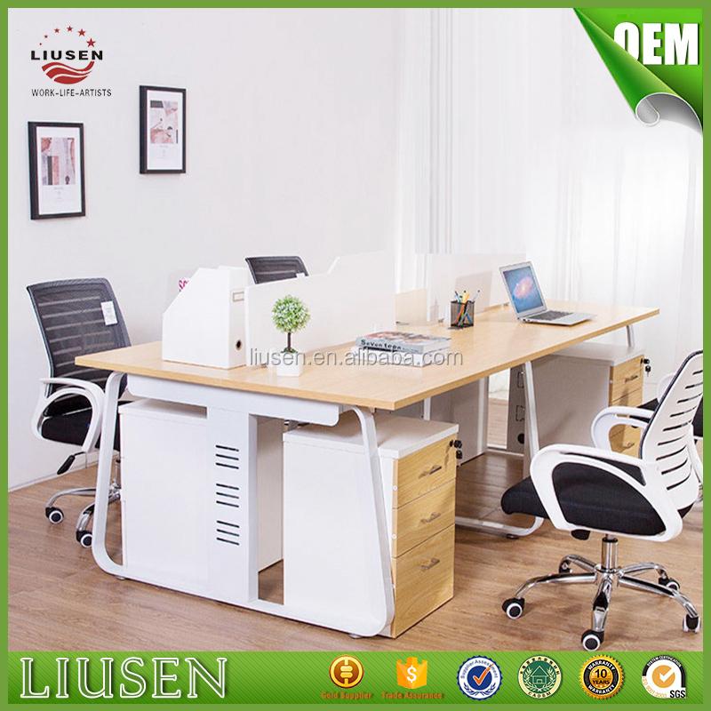 Cub culos de oficina escritorio de oficina de madera de for Cubiculos para oficina precios