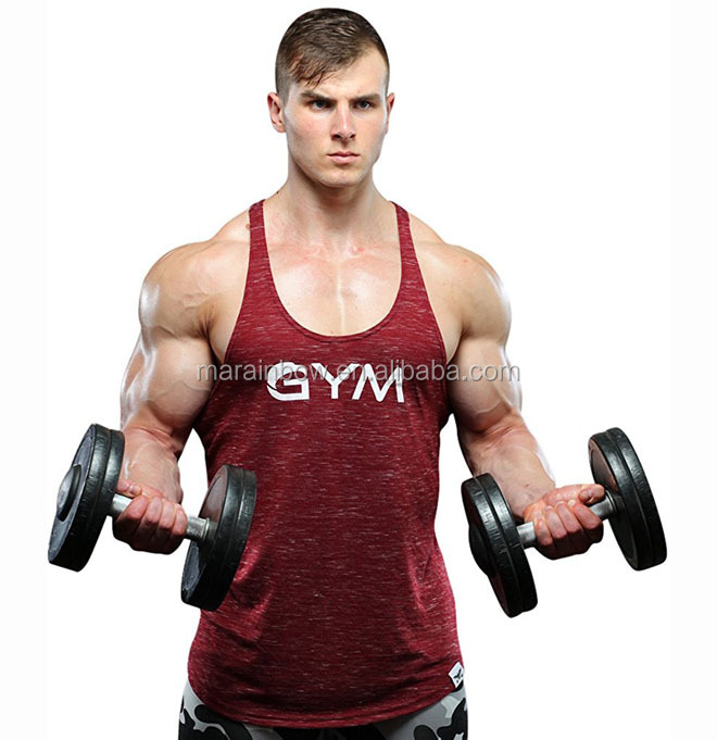 Mens's Gym Stringer Tank Tops gym Fitness Bodybuilding Sport tank tops Workout Spier Vest Workout Fitness Beast Tee