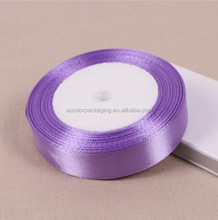 Wholesale Light Purple Fabric Silk Satin Ribbon For Gift Wrapping