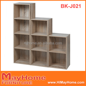 Cube style wooden storage shelf/storage box