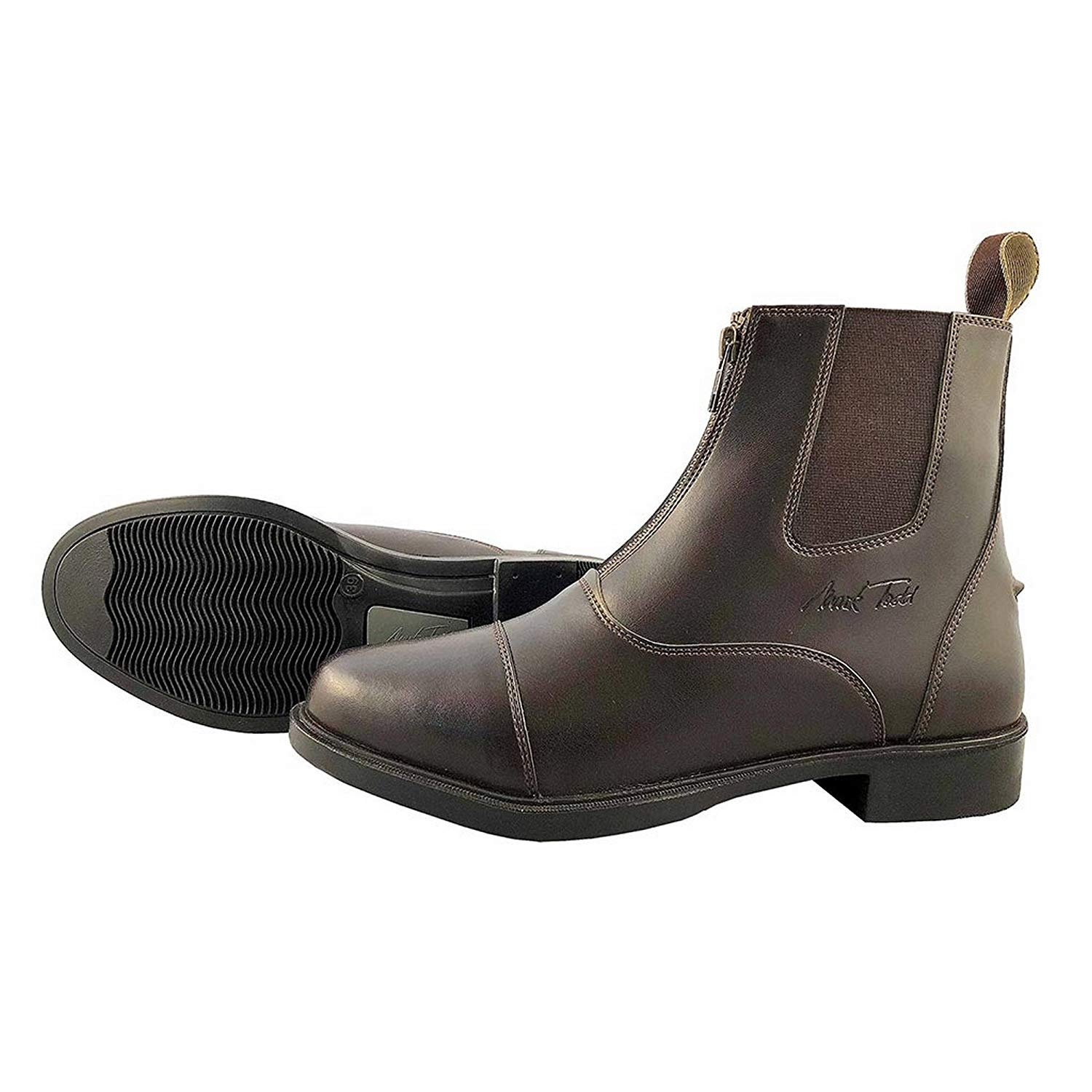 ee1c8b810bc Get Quotations · Mark Todd Adults Synthetic Jodhpur Boots with Front Zip
