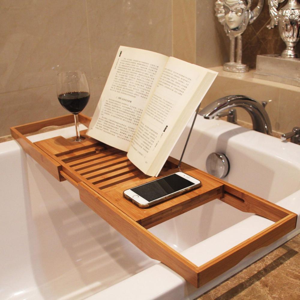 stylish-design-bamboo-bathtub-caddy-tray-for