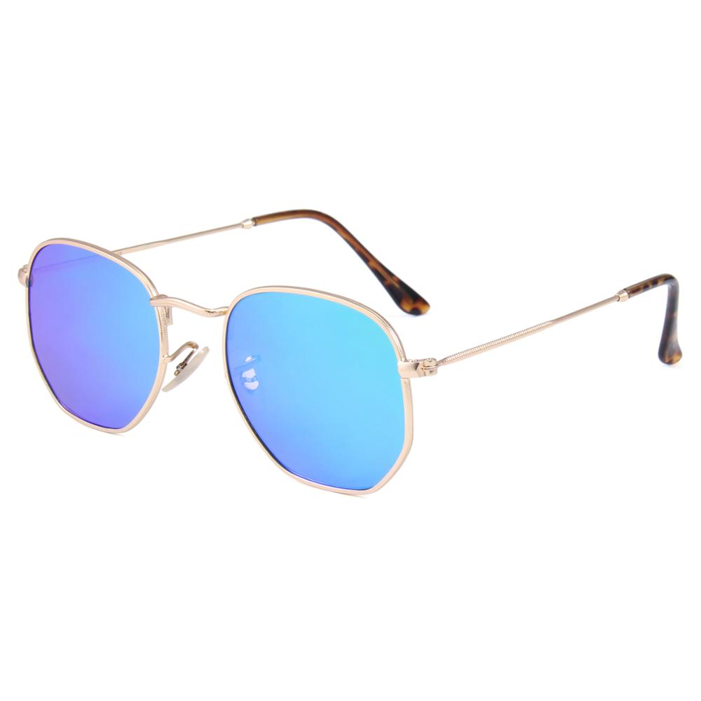 2019 italy design classical cat 3 uv400 glasses metal mens round ce sunglasses, Blue;brown;green;smoke;red