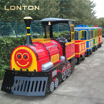 Amusement Kiddie Ride Train 4 Kw Electric Trackless Train