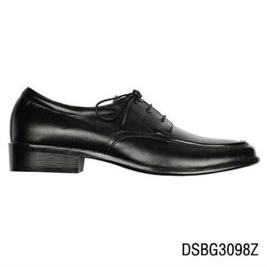 Italian style men dress Black leather sheos DSBG3098
