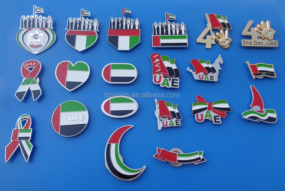 UAE National Day items, UAE magnetic lapel pins brooch pins