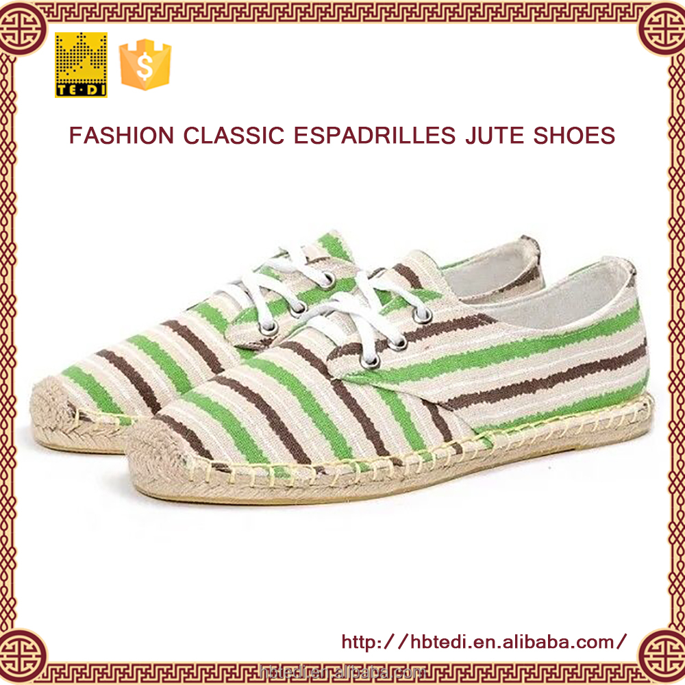 Wholesale Customized Espadrille line-soled italian fashion women shoes summer sandals 2016