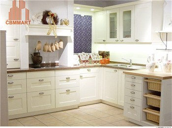 White Classic Italy Style Cabinet Kitchen Design