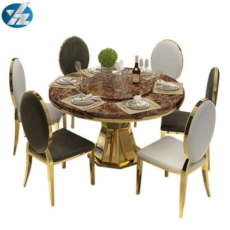 Pequeña mesa redonda de comedor con mesa giratoria-Sets para Sala ...
