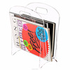 Fashion Design Freestanding Clear Acrylic Magazine Holder Display Stand / Acrylic File Folder Storage Organizer