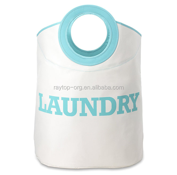 Custom eco-friendly dirty nylon laundry bag with handle