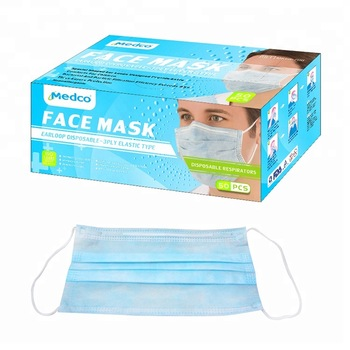 3-ply disposable earloop face mask