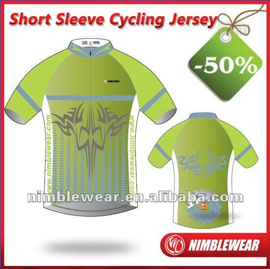 50% Discount Short Sleeve Cycling Wear Cycling Clothing Italy MITI/Recycled Fabric