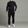 block stripe zip up tracksuit mens hoodie sweatshirt