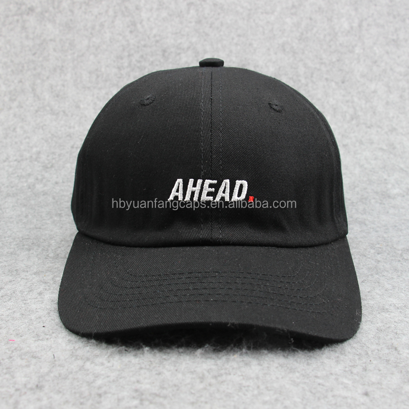 custom promotional 5 panel/ 6 panel and wholesale black 100% cotton denim letter embroidery/print baseball dad cap and <strong>hat</strong>