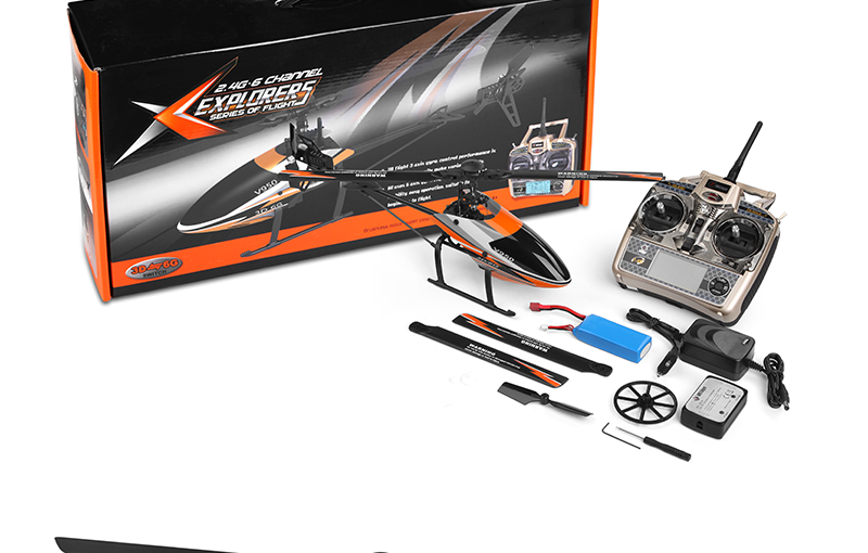 WL toys V950 2.4G 6CH brushless flybarless rc helicopter with 3D6G system