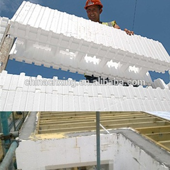 Advanced waterproof polystyrene blocks construction for Concrete foam block construction