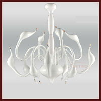White Swan Chandelier for Decoration