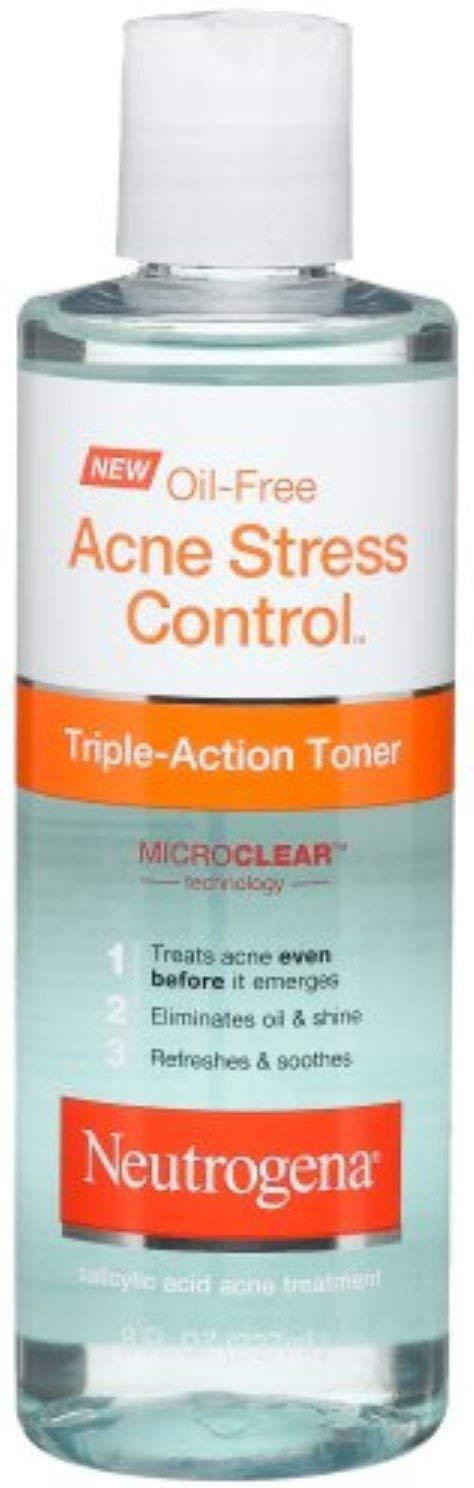 Neutrogena Oil-Free Acne Stress Control Triple Action Toner 8 oz (10 Pack)