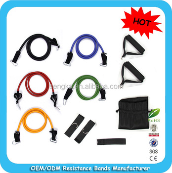 LTA-1274 High quality/HOT sales 11pcs training resistance bands set