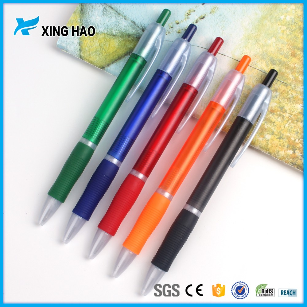High puality prestige ball pen manufacture wholesale beautiful rainbow highlighter pen hot rubber cheap plastic click pen