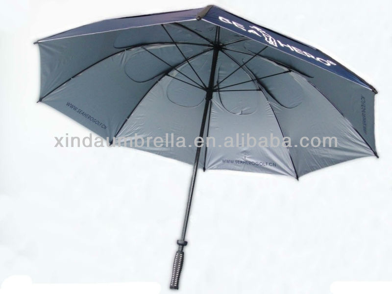 Quality Sport Company Gift Custom Print Large Size Straight Golf Vent Best Windproof Umbrella