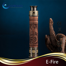 Vision Xfire / eFire reusable e cigarette 1100mah Skull Hand Carved Wood with Pyrex Vivi Nova