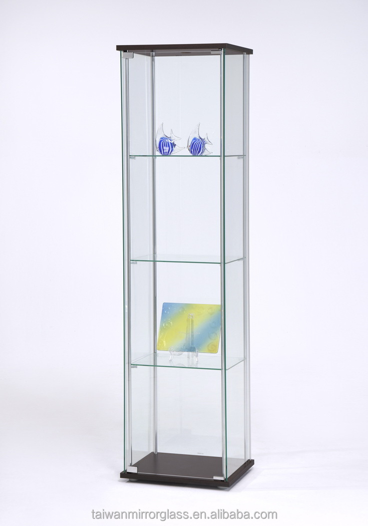 Classic living room glass display showcase cabinets design for Showcase shelf designs