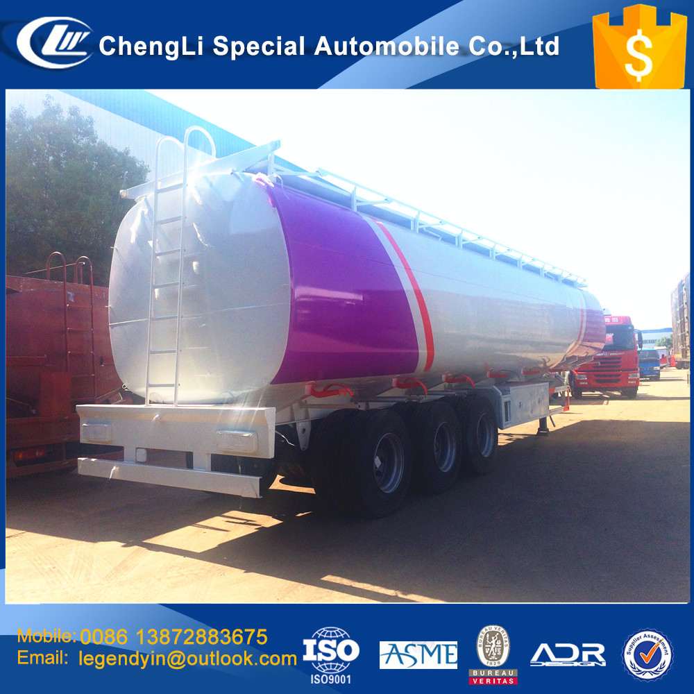 CLW 2017 new export model carbon steel 3 axle 50000 liters 50 cbm fuel tank transport semi trailer fuel tanker trailer price