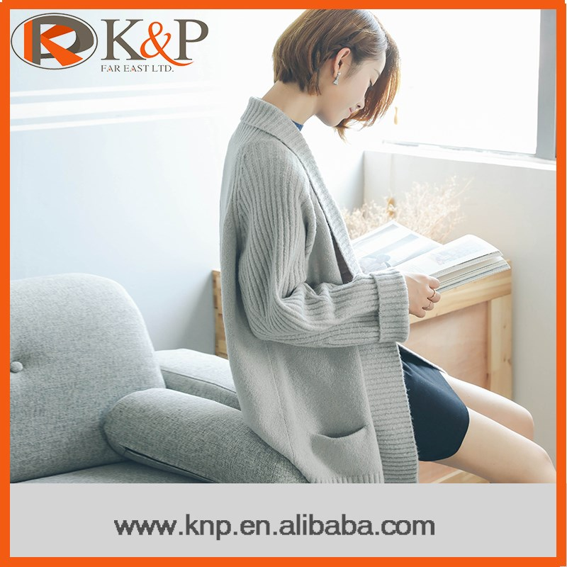 Factory price newest young ladies sweater cardigan for winter