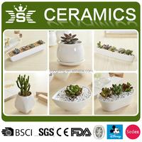 Garden supplies customized flower pots ceramic planters